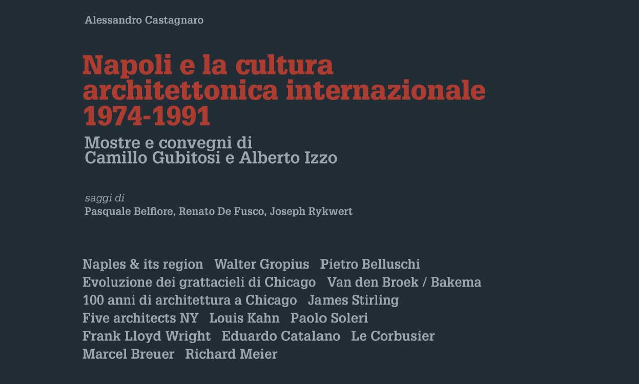 Napoli e la cultura architettonica internazionale – 1974/1991 – Presentazione del volume – 4 giugno 2019