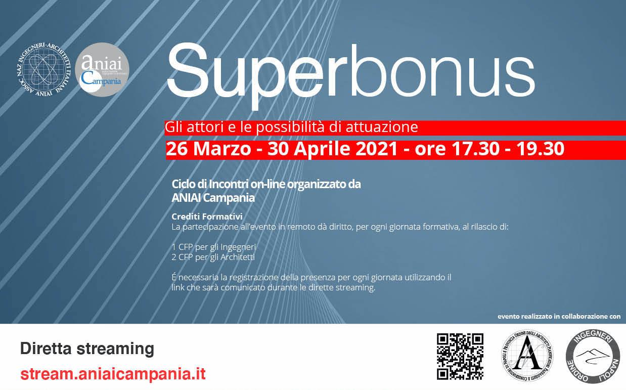 Superbonus – Gli attori e le possibilità di attuazione – 26 marzo, 30 aprile 2021